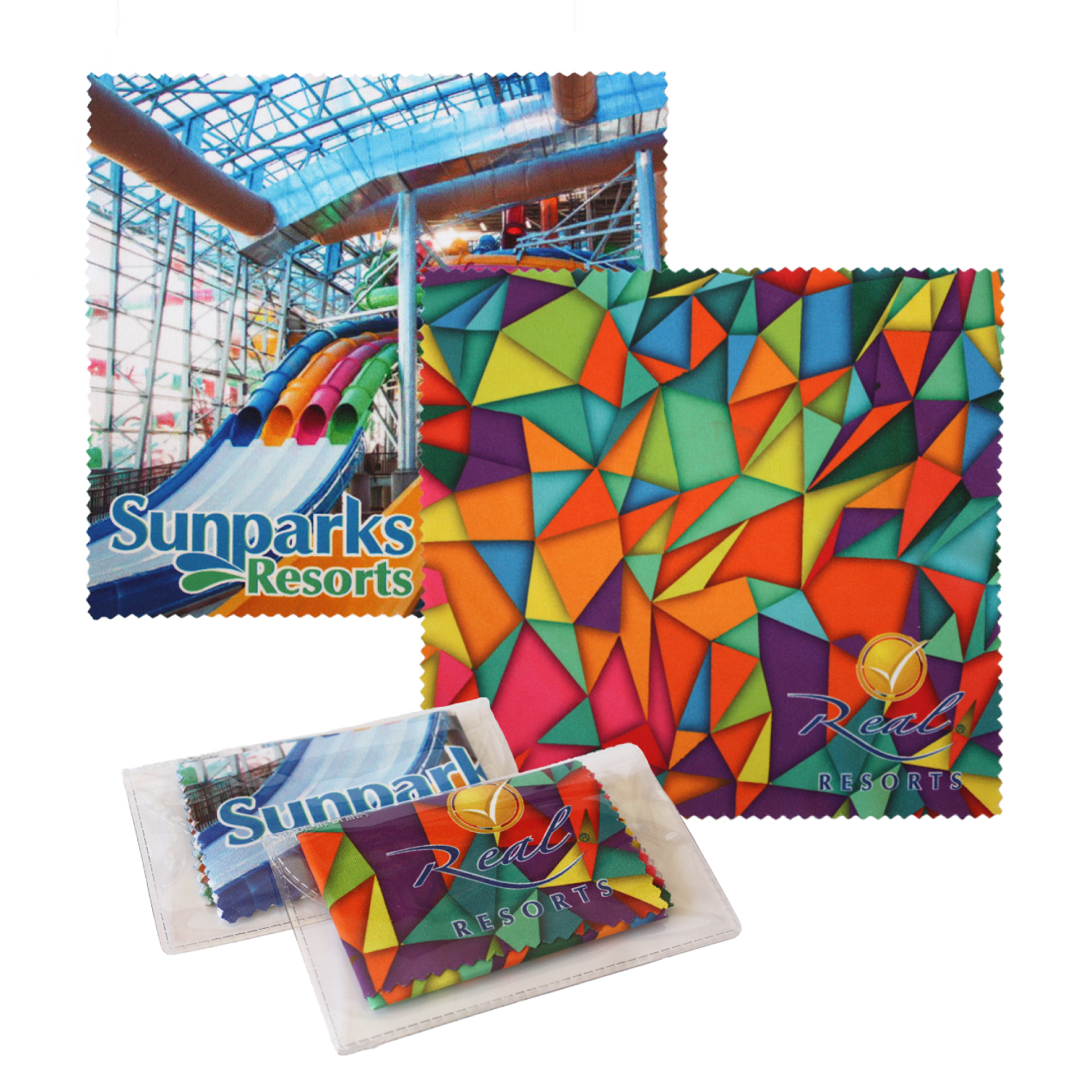 Sublimated Microfiber Cloth w/Case