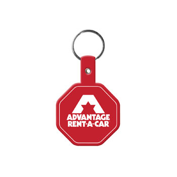 Stop Sign Flexible Key Tag
