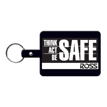 Large Rectangle Flexible Key-Tag